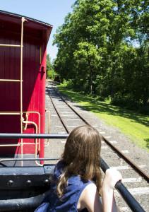 train tracks, train station, train, railroad